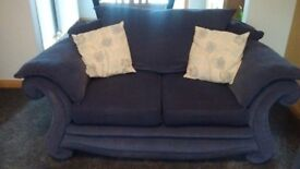 Light navy fabric 3-seater Sofa and 2-seater Sofa
