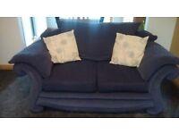 Light navy fabric 3-seater Sofa and 2-seater Sofa