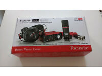 Focusrite Scarlett Solo Studio bundle pack with mic, headphones and leads etc
