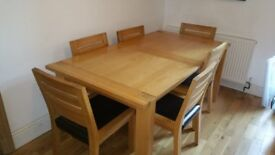 M&S Sonoma extending oak table and 6 chairs