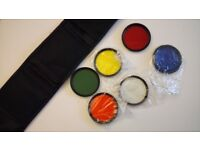 Colour 6 Piece Filter Set Kit with Pouch & UV Filter 55mm screw fit