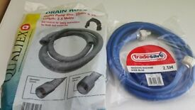Washing machine blue hose and waste hose