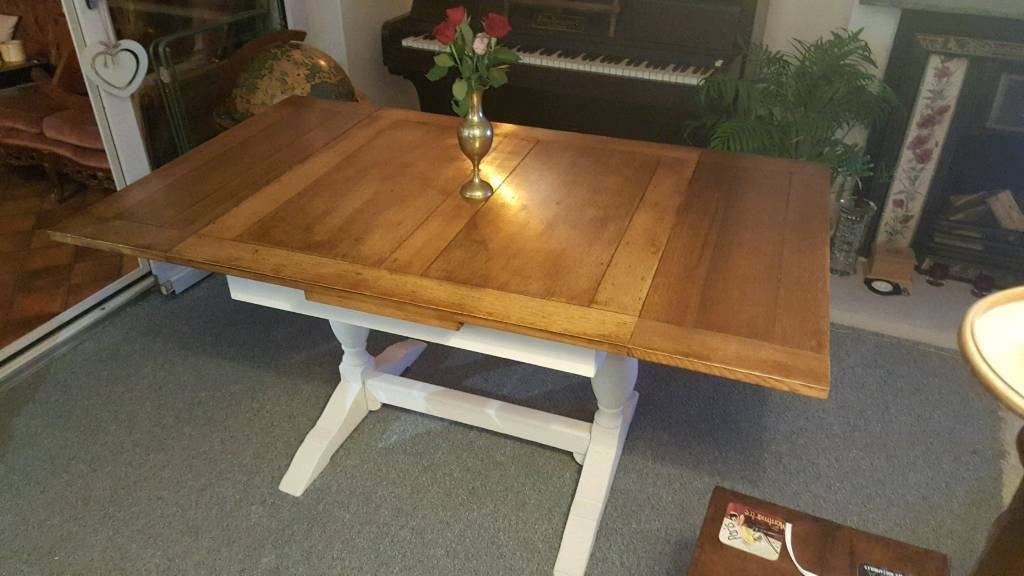 1920s oak refectory table seats 6