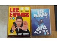 Lee Evans Boxset and Big Live at the O2 DVDs