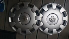 2x 15inch Vauxhall wheel trims