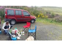 2 - seater Fiat Doblo campervan . Perfect surf/sports/camping van + economical to drive