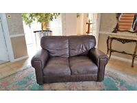 2 seater leather sofa - can deliver