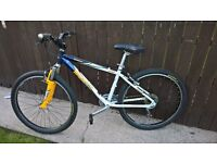 scott mountain bike front suspension cycle 16 inch lightweight alloy 24 speed mtb hardtail