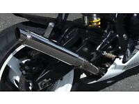 Yamaha R1 exhaust 60mm custom made stainles steel in excellent condition, £40.