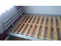Futon Style Wood Double Bed Frame