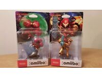 Samus Aran AND Metroid Amiibo - Compatible with Nintendo 2DS/3DS/'new' 3DS