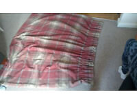 2x (pair) of Bordeaux / Red - ish Curtains