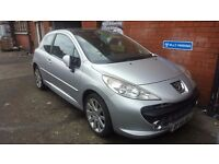 2006 Peugeot 207 Gt Hdi 110 Cheap spares or repairs - Diesel - MOT- Leathers - Sat Nav