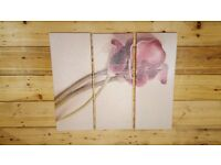 3 Piece Rose Canvas Print - Picture - Photo - Split Canvas - Wall Art