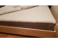hamarvik mattress ikea King size 160x200 with wooden frame