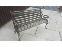 Garden bench / Bench ends / Cast iron Bench / outdoor furniture / garden furniture / vintage salvage