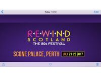 2 adult weekend camping tickets for Rewind Festival Perth