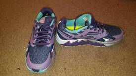 purple skechers go run forza running trainers size 3 worn once