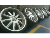 "ZITO 22"" ALLOY WHEELS & TYRES 5X112 BENTLEY MERCEDES ML GL CLASS AUDI Q3 Q5"