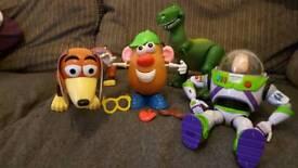Toy story, buzz lightyear, slinky, Mr potato head, rex