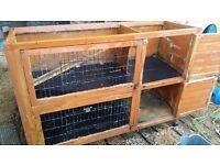 Double tier rabbit / guinea pig hutch