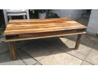 Great condition and beautiful solid wood coffee table
