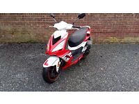Peugeot Speedfight 3 2013 (Red) 50cc + Helmet + Jacket + Gloves