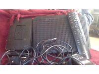 virgin media equipment set top box,modem & remote