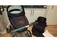 Babystyle prestige lux classic black & chrome pram & buggy system