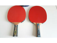 table tennis batsx2, 1xcase,4 balls *Like NEW*