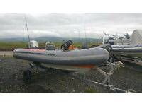 avon searider rib SR4 45hp honda 03 engine with trailer all ready to go!