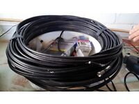 Twin Satellite Arial TV Cable over 23 meter
