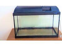 Glo-Light 65 Litre Glass Aquarium With Inbuilt Light & Lid - £45