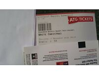 White Christmas, Liverpool Empire Theatre, 17/11/16, 3 Adults, great seats in the Stalls