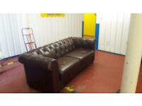Chesterfield sofa brown **£ 75 free delivery **