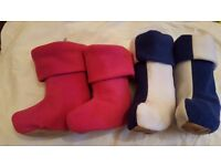 Nippers For Kids - Fleece Collection/ Welly Socks for Girls and Boys ---- a pair £1.50