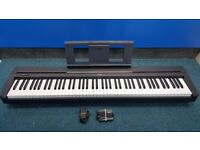 Yamaha Digital Piano P-45 Including Sustain Pedal, Power Supply and Book Stand