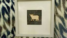 Handmade Highland cow picture