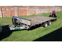 Ifor Williams 16 foot Beaver Tail Trailer with loading ramps.