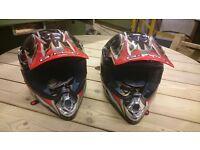 2 Kids Motocross Helmets