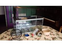 Gerbil/small pet tank with accessories