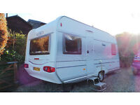 2005 LMC 475RD 4 berth model, with fixed double bed, single axle and all the extras you need.