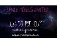 Female Model Work Offered