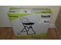 Baby high chair, NEW Hauck mac