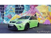 2009 FORD FOCUS RS RARE GENUINE ONLY 14500 MILES FROM NEW. LOTS OF MODS 500 BHP