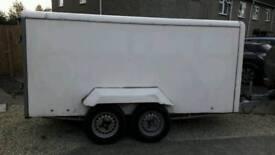 Large twin axle box trailer