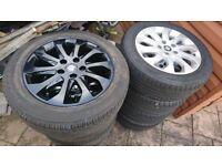 16 inch alloy wheels 5x112, audi, mercedes, vw, seat, skoda