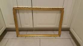 Gold shabby chic large picture frame