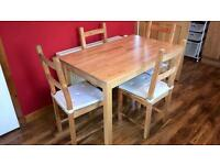 Free table and 4 chairs