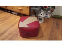Vintage Retro Pouffe Footstool Moroccan Inspured Side Table Bedside Foot Stool